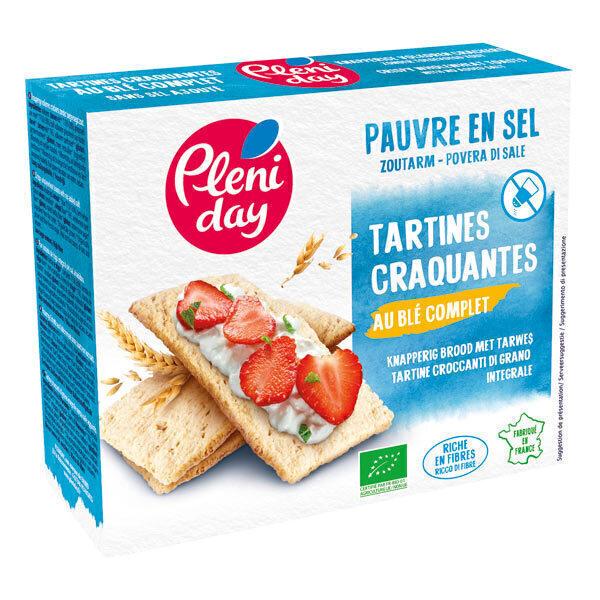 Pléniday - Tartines craquantes de blé complet pauvres en sel 150g