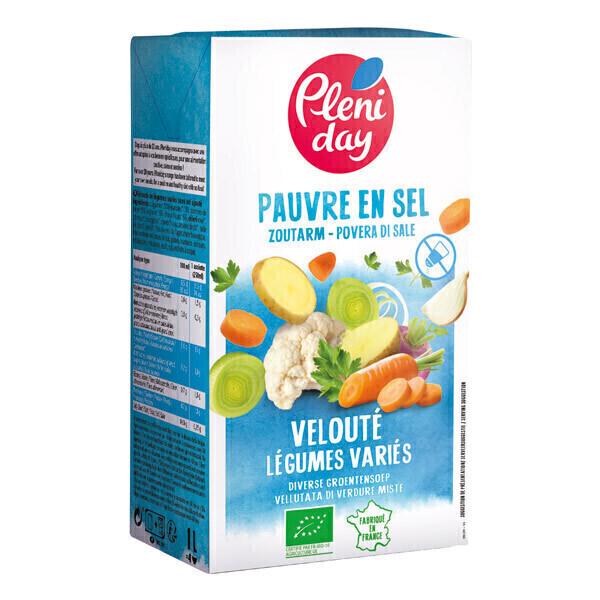 Pléniday - Velouté de légumes divers pauvre en sel 1L