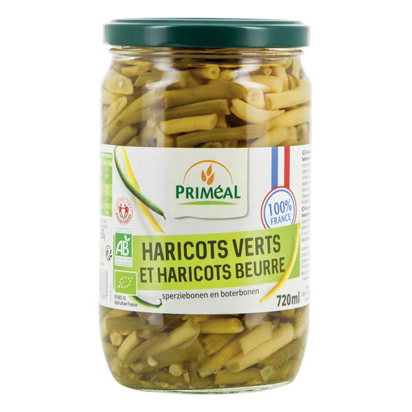 Priméal - Haricots verts et haricots beurre origine France 720ml