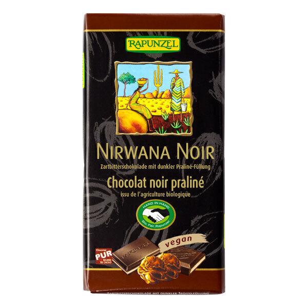 Rapunzel - Chocolat noir praliné Nirwana 100g