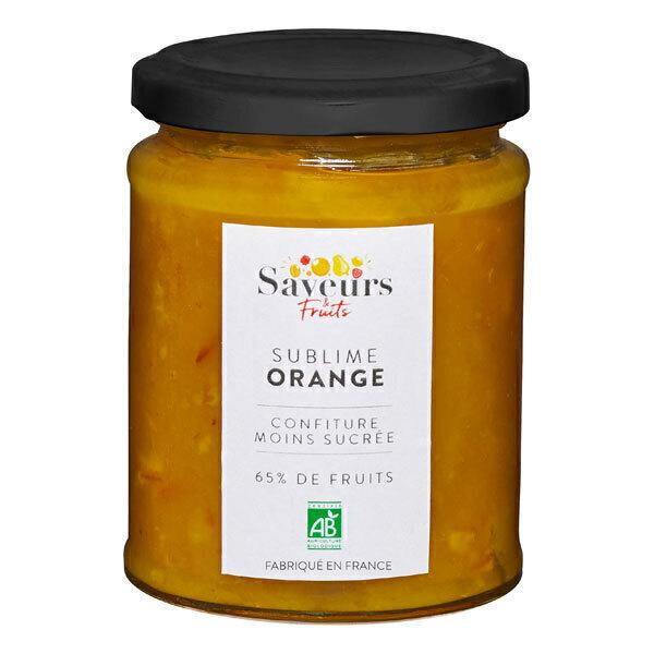 Saveurs & Fruits - Confiture d'orange moins sucrée 65% de fruits 310g