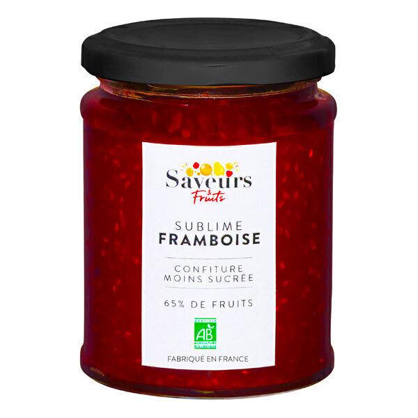 Saveurs & Fruits - Confiture de framboises moins sucrée 65% de fruits