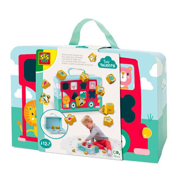 SES Creative - Bus-valise de tri sensoriel - Dès 12 mois