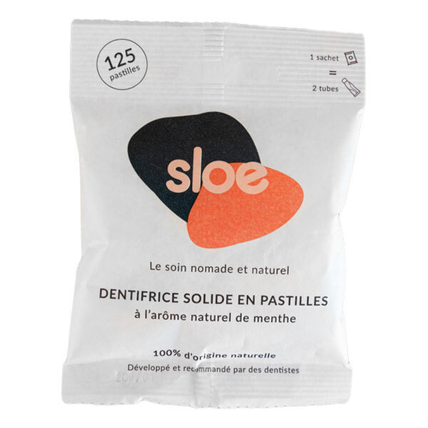 Sloe - Recharge en sachet de pastilles de dentifrice x125