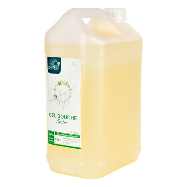 Solibio - Gel douche neutre 3 ingrédients 5L