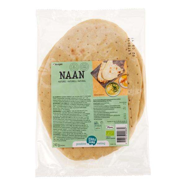 TerraSana - Pains Naan au naturel 2x120g