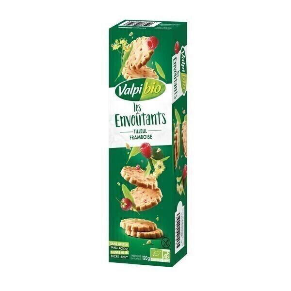 Valpibio - Biscuits Les Envoûtants framboise et tilleul 120g