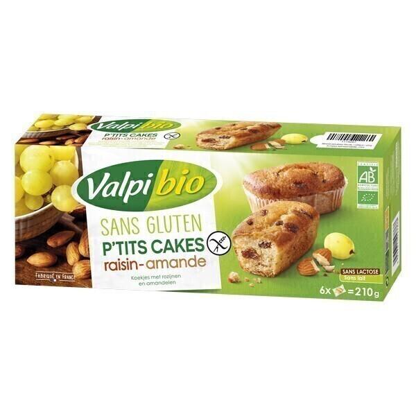 Valpibio - P'tits Cakes raisin amande 220g