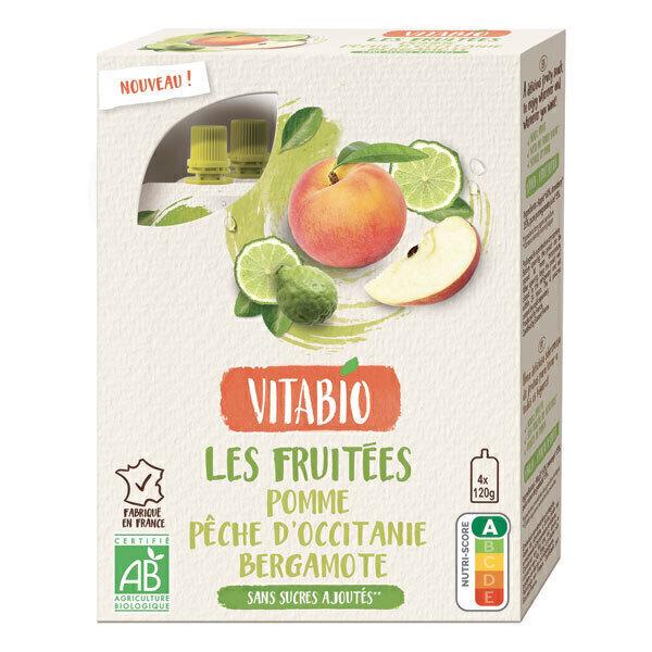 Vitabio - Gourdes pomme pêche d'Occitanie bergamote 4x120g