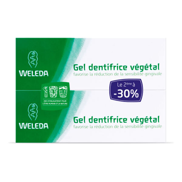 Weleda - Duo Gel dentifrice végétal 2x75ml