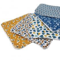 Akoya - Lingettes demaquillantes lavables Bleu/Jaune