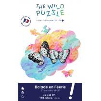 The Wild Puzzle - Puzzle en bois 140p, Papillon: Balade en Féerie
