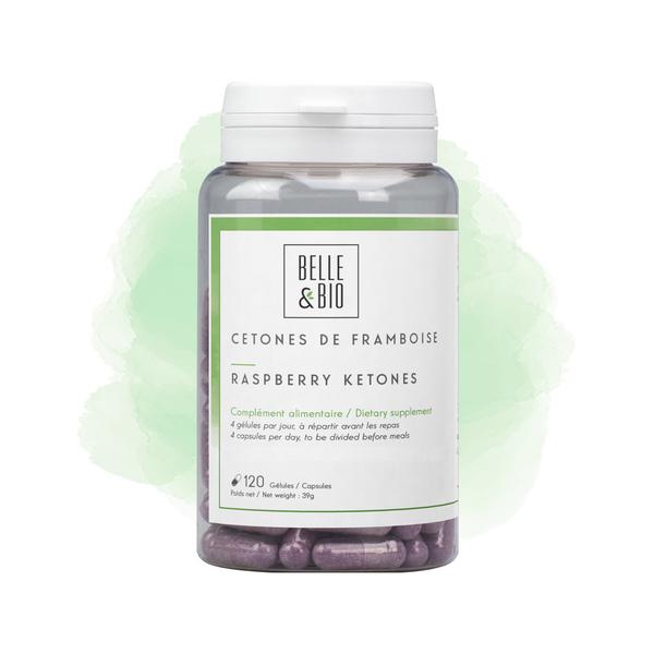 Belle & Bio - Cétones de Framboise - Minceur - 120 Gélules - Certifié par Ecoc