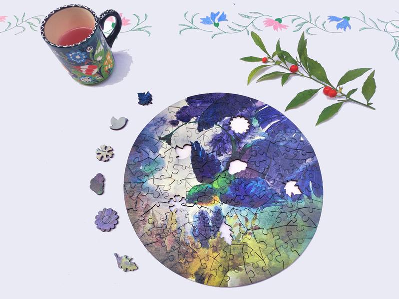 The Wild Puzzle - Puzzle en bois original avec140p, Le printemps