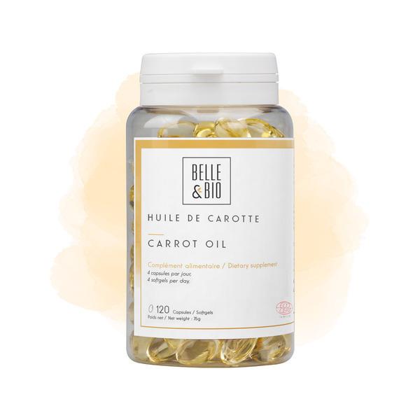Belle & Bio - Huile de carotte - 120 Capsules - Certifiée par Ecocert