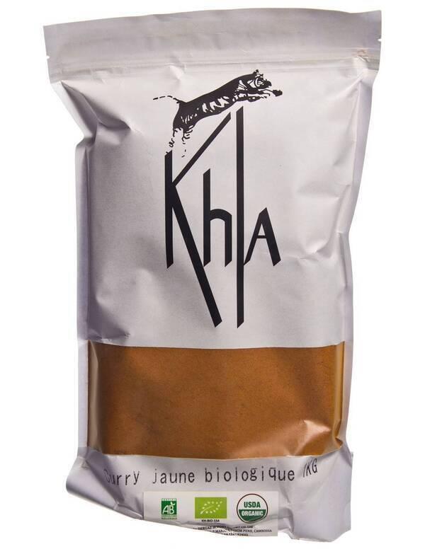 Khla - Curry jaune en poudre - bio - en vrac - 1kg
