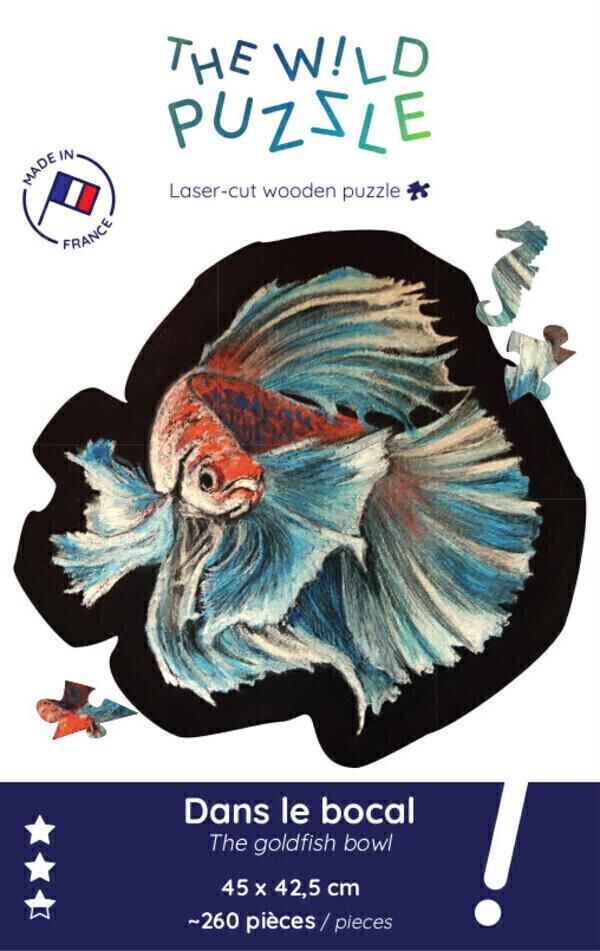 The Wild Puzzle - Puzzle en bois original 260p, poisson: Dans le bocal