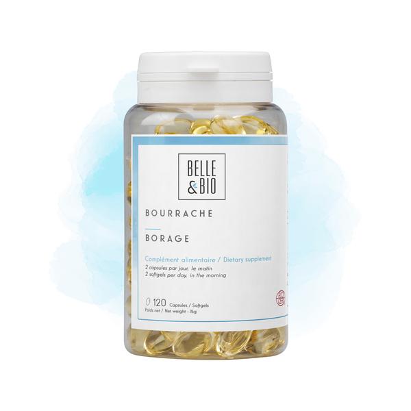 Belle & Bio - Bourrache - Hydratation - 120 Capsules - Certifie par Ecocert
