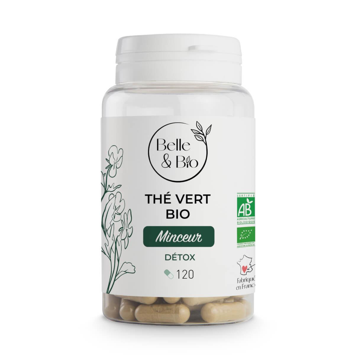 Belle & Bio - Thé Vert Bio - Minceur - 120 Gélules - Certifié AB par Ecocert