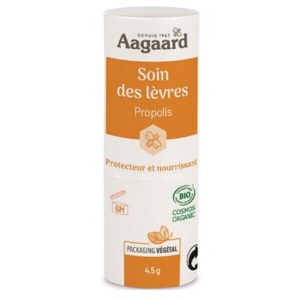 Aagaard Propolis - Stick à lèvres propolis - cire d'abeille - 4,5 gr