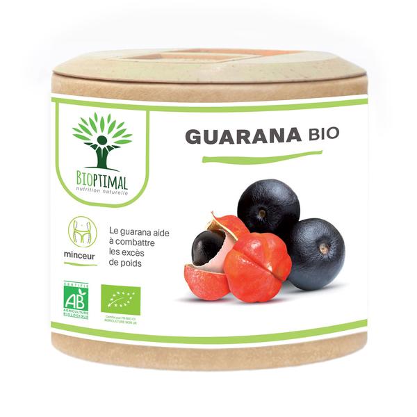 Bioptimal - Guarana Bio - Brûle Graisse Minceur Énergie Caféine - 60 gélules