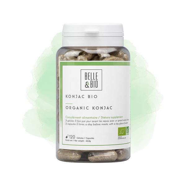 Belle & Bio - Konjac Bio -Minceur - 120 Gélules - Certifié AB par Ecocert