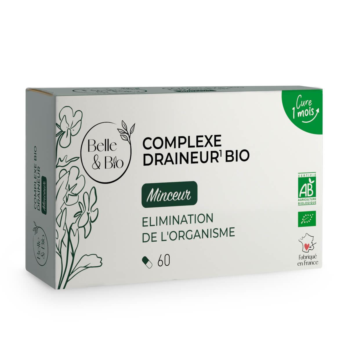 Belle & Bio - Complexe Draineur Bio - Action Detox - 60 Gelules