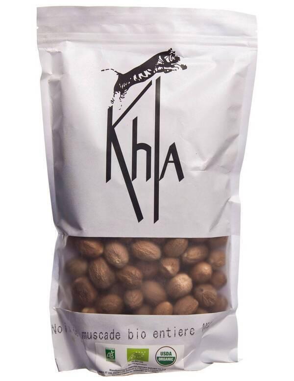 Khla - Noix de muscade entières - bio - en vrac - 1kg