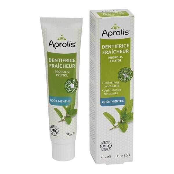 Aprolis - Dentifrice Fraîcheur goût Menthe 75ml Bio