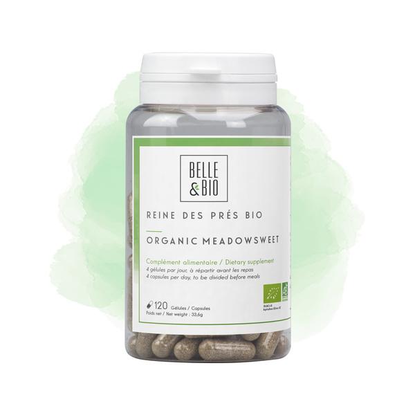 Belle & Bio - Reine des Prés Bio - 120 Gélules - Certifié AB par Ecocert