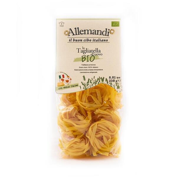 Saveurs de Tosca - Tagliatelle aux oeufs BIO Pâtes Allemandi - Nid de 250 gr excell