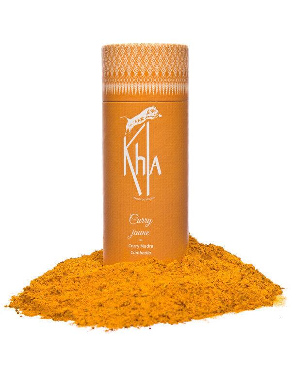 Khla - Curry jaune en poudre - bio - 100g