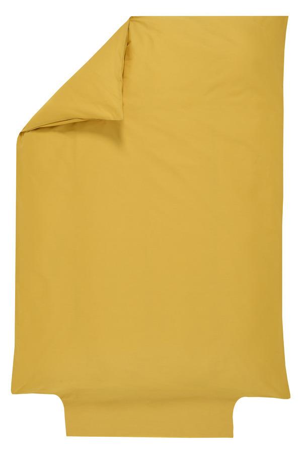P'tit Basile - Housse de couette 100x140 cm-coton Bio -Jaune Moutarde