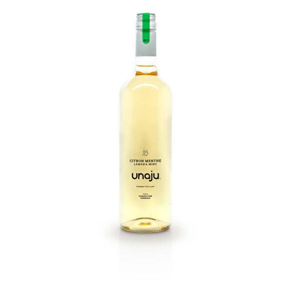 Unaju - Boisson pétillante citron menthe 75cl