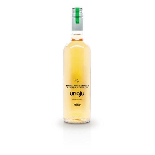 Unaju - Boisson pétillante mandarine romarin 75cl