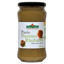 Côteaux Nantais - Purée pommes rhubarbe 360 g Demeter