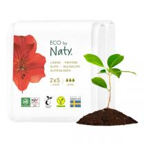 Eco by Naty - Lot de 2 x 5 Protège-slips écologiques - Large - Format poche