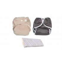 P'tits Dessous - Pack Découverte de Couches Lavables So Bamboo Taille U (3-15 kg)