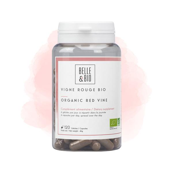 Belle & Bio - Vigne Rouge Bio - 120 Gélules - Certifié AB par Ecocert