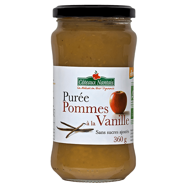 Côteaux Nantais - Purée pommes vanille 360 g Demeter