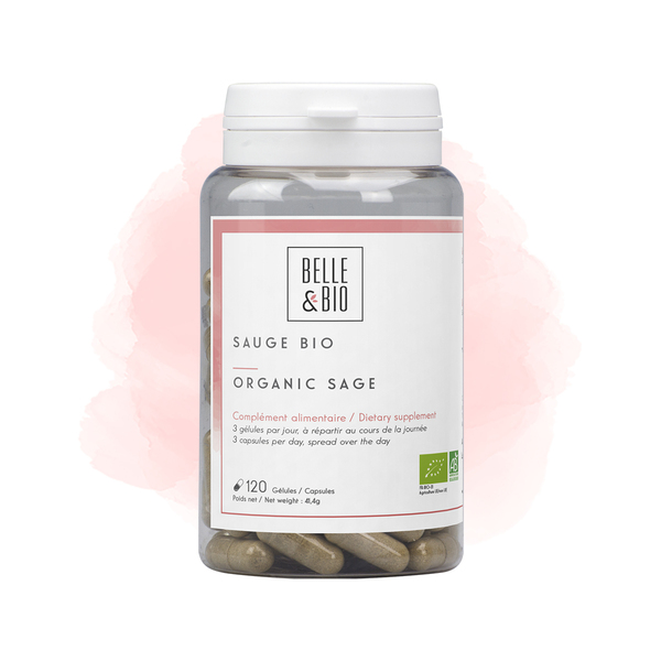 Belle & Bio - Sauge Bio - Bien-Être - 120 Gélules - Certifié AB par Ecocert