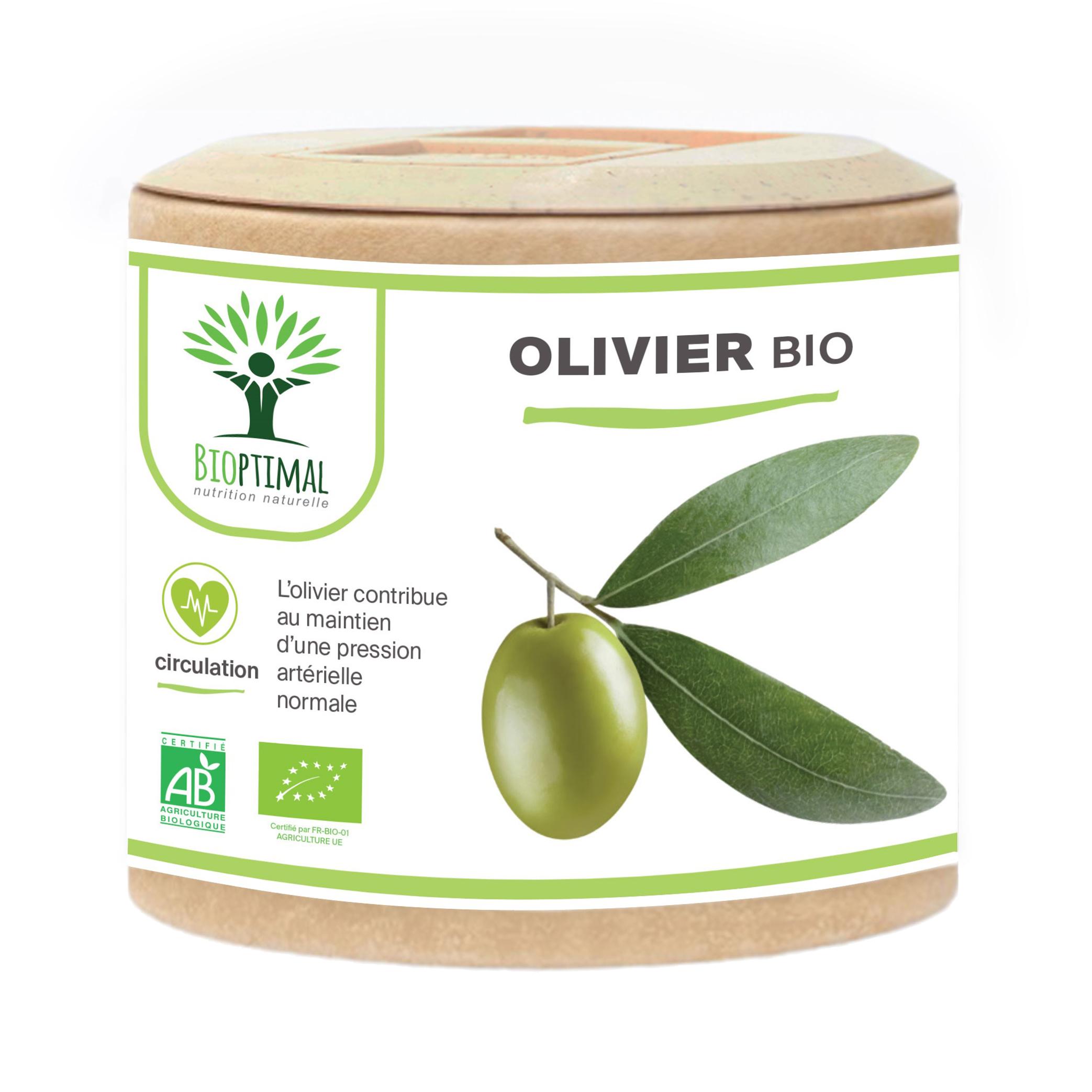 Bioptimal - Olivier bio - Circulation Sanguine Tension Cardio - 60 gélules