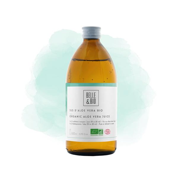 Belle & Bio - Jus d'Aloe Vera - 500 ml - Certifie par Ecocert