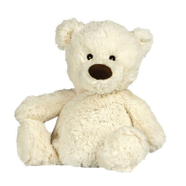 Pelucho - Peluche Bouillotte Ours Blanc - Made in France