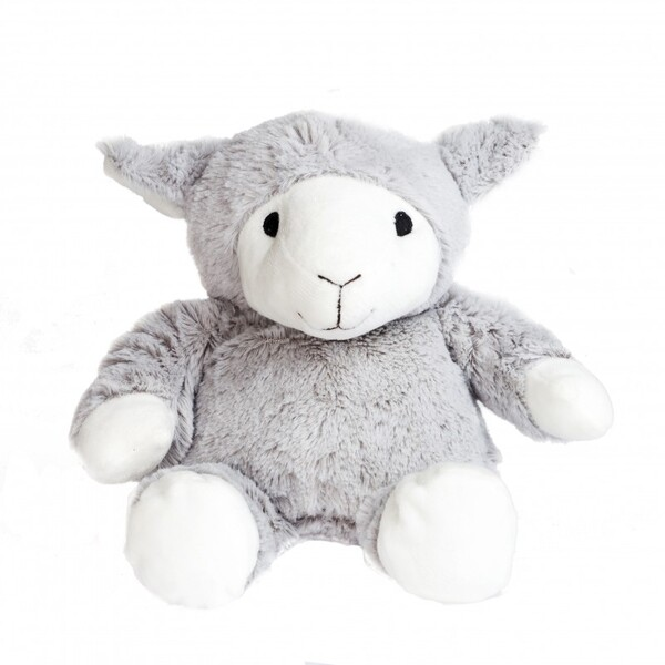Pelucho - Peluche Bouillotte Mouton Gris - Made in France