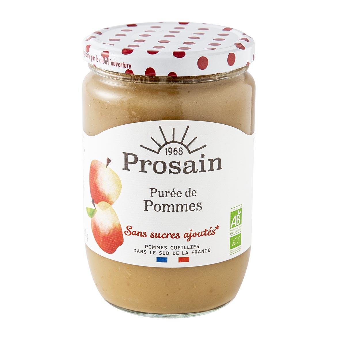 ProSain - Purée de pommes sans sucres ajoutés 620g bio