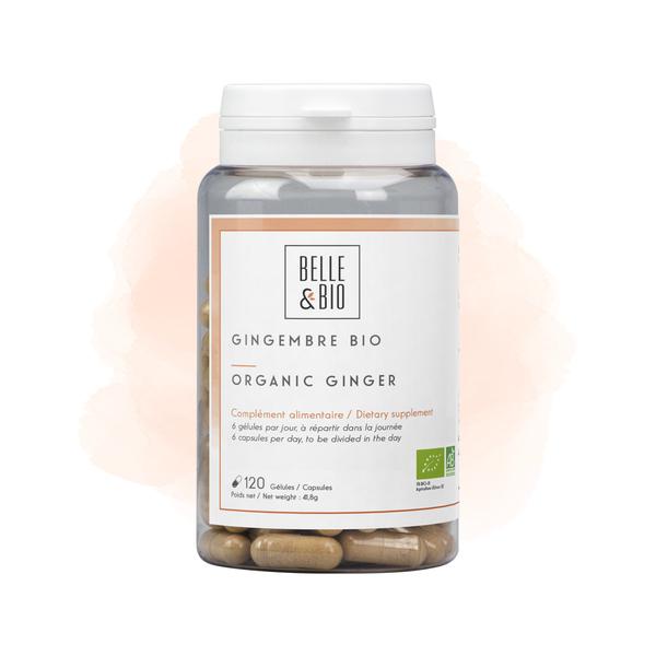 Belle & Bio - Gingembre Bio - Tonus - 120 Gélules - Certifié AB par Ecocert