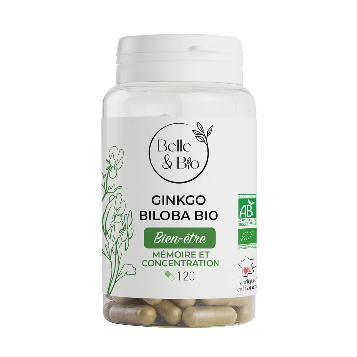 Belle & Bio - Gingko Bio - 120 Gelules - Certifie par Ecocert