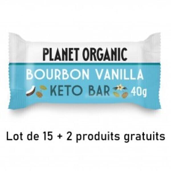 Planet Organic - LOT DE 15+2 Barre Keto Vanille 40g Bio