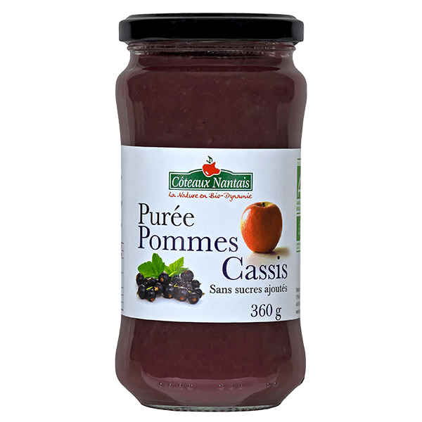Côteaux Nantais - Purée pommes cassis 360 g